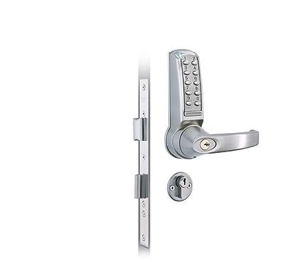 Codelocks - Cerradura digital electrónica con manija de palanca (cilindro doble, función de seguridad