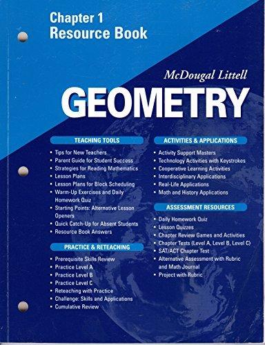 McDougal Littell - Geometry - Chapter 1 Resource Book
