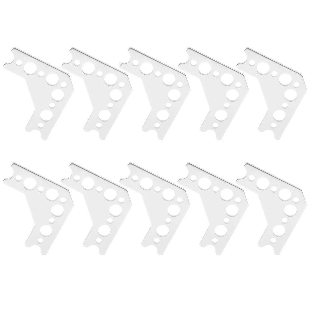 10 PCS Aluminum Gusset 90 Degree 7005 Aluminum Robot Connection Gusset Compatible with TETRIX Prime