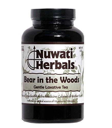 Nuwati Herbals Bear in the Woods - Gentle Laxative - Herbal Tea, 4 oz. - Cascara Sagrada Root