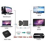 Adattatore-da-VGA-a-HDMI-Convertitore-VGA-HDMI-con-Audio-1080PPC-Vecchio-Stile-a-TVMonitor-con-Femmina-HDMITrasformatore-Maschio-VGA-to-HDMI-Connettore-per-Collegamento-di-Laptop-con-Proiettore