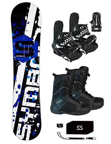 Symbolic 369 Wide Snowboard & Bindings & Boots & Burton Complete Decal Package