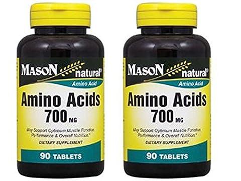 4 Bott Super Amino Acids 700 mg L-ARGININE For optimum muscle function, performance & overall nutrition