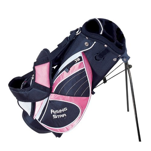 - Paragon Golf Rising Star Jr Golf Bag with Stand, Pink - 25