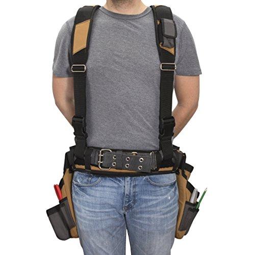 Dickies Work 4-Piece 57023 – Suspenders – Cooling – Steel Buckle Leather Tool Belt – lb.