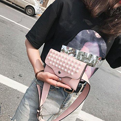 BandoulièRe Kaki Rouge Bandoulieres Couleur Mode Chest Pure Rose Cuir En Lady Cher OHQ Kaki à Perle Pas Pearl Messenger Fashion Sac Noir Poubelles Femmes wxpSIvFqg