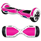MightySkins Protective Vinyl Skin Decal for Hover Board Self Balancing Scooter Mini 2 Wheel x1 Razor wrap Cover Sticker Solid Hot Pink