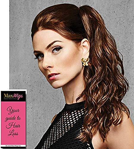 """18"""" Simply Curly Ponytail Color R1416T BUTTERED TOAST - Hairdo Hairpieces Claw Clip Pony Tru2Life Heat Friendly Beach Waves Synthetic Bundle MaxWigs Hairloss Booklet 51As7h7S3XL"""