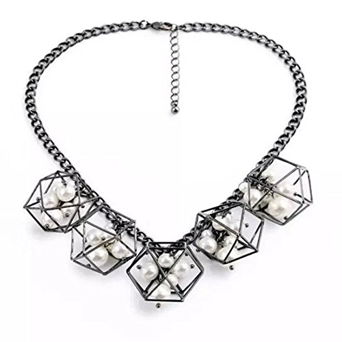 HeyGirl Women Fashion Jewelry Pendant Necklace Elegant Personality Geometric Art Necklace from HeyGirl