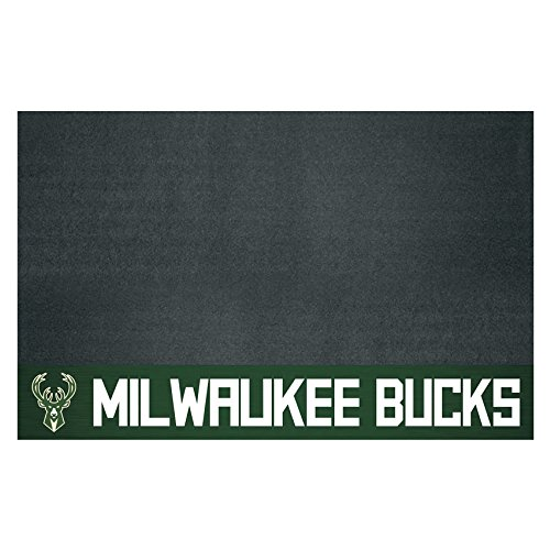 FANMATS 14211 NBA Milwaukee Bucks Grill Mat