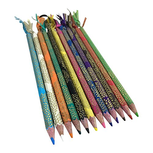 Fair Trade Eco Friendly Set of 12 Colored Pencils, Handmade in Nepal (Mums)