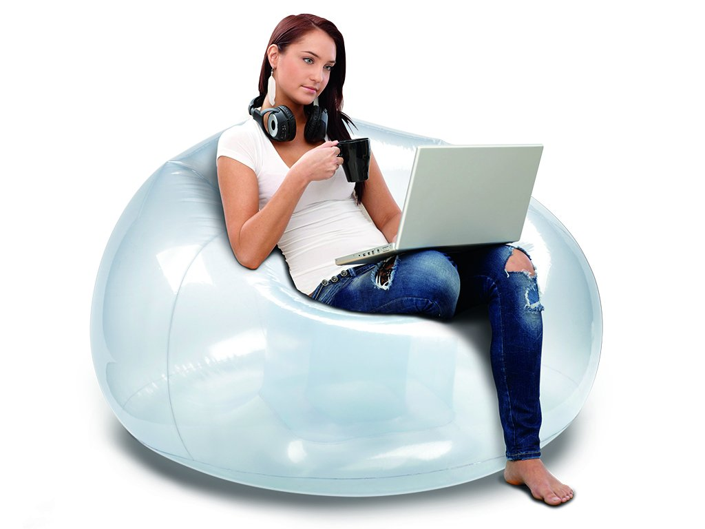 Transparent Clear BloChair Inflatable Chair B/&D Group IN2020CLEAR