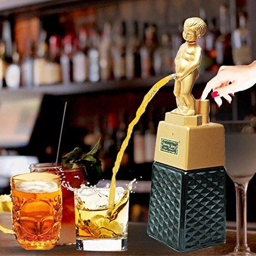 Barraid Bonny Boy Square Golden Liquor Dispenser 500 ML Capacity