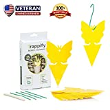 Sticky Bug, Fly and Gnat Trap: Yellow Dual Sided Glue Insect Catcher to Control Bugs Indoor and Outdoor - Traps Fruit Flies, Aphids and Flying Pests in Potted Plants and Organic Gardens - 25 Pack