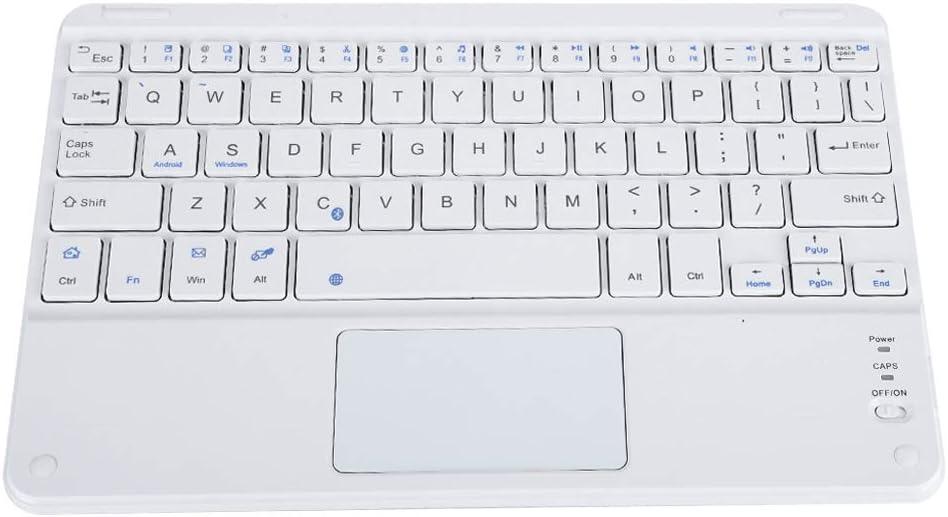 Garsent Mini teclado Bluetooth fino, teclado multimedia inalámbrico con panel táctil para PC, tableta, Smart TV, smartphones y más