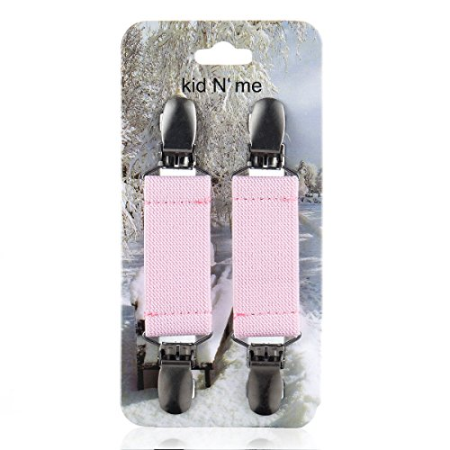 Kid n' Me Mitten Clips - Stainless Steel and Flexible Elastic Glove Accessories - Firm, Reliable Grip Strength - Versatile Keeper
