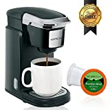 Mixpresso Single Cup Coffee Maker | Personal, Single Serve Coffee Brewer Machine, Compatible With K-Cups | Quick Brew Technology, Programmable Features, One Touch Function