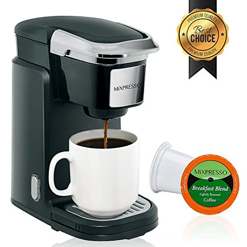 Mixpresso - Single Serve Coffee Maker | Compatible with K-Cups | Quick Brew Technology with Auto Shut-Off | One Touch Function | Programmable Features | Available in Dark Grey & Black Color by Mixpresso (Image #6)
