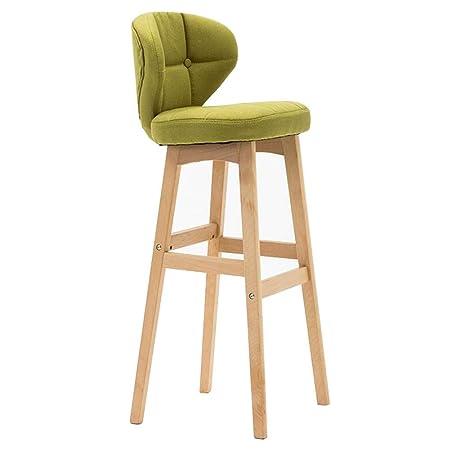 WYYY silla de Oficina Silla De Bar Patas De Madera Taburetes De ...