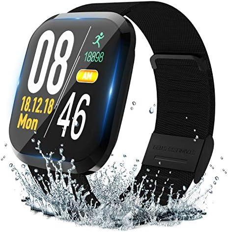Lyson 스마트 워치 IP67 방수 건강 지원 스마트 팔찌 활동 량 계 보수계 1.3 인치 대형 화면 / Lyson Smartwatch IP67 Waterproof Health Support Smart Bracelet Activity Meter Pedometer 1.3 Inch Large Screen