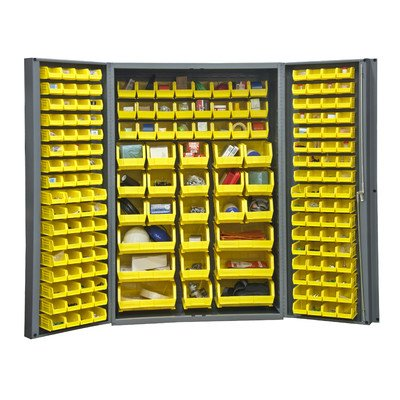 Durham Heavy Duty Welded 14 Gauge Steel Cabinet with 176 Bins, DC48-176-95,  24
