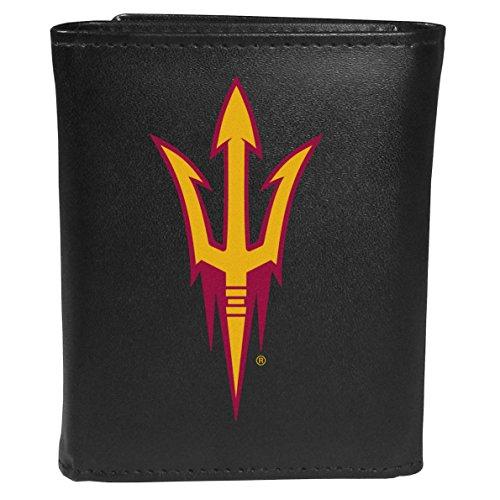 Siskiyou Sports NCAA Arizona State Sun Devils Tri-fold Wallet Large Logo, Black
