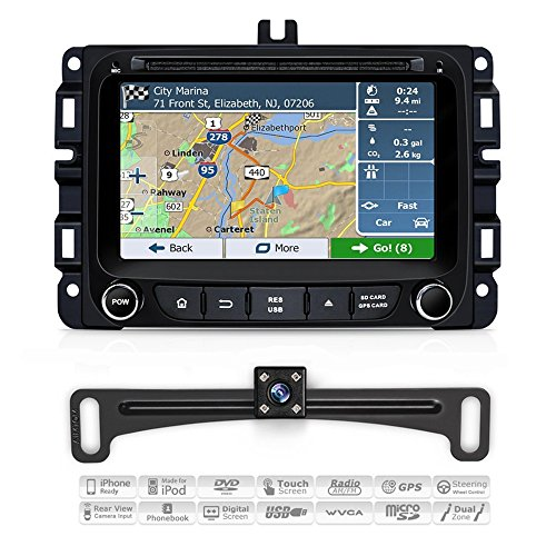 AIMTOM 2013-2018 Dodge RAM 1500 2500 3500 In-dash GPS Navigation Android Car Stereo Bluetooth DVD CD Deck 7'' Touch Screen AV Receiver FM AM Radio USB SD Multimedia Player Built-in Wi-Fi Head Unit by AIMTOM