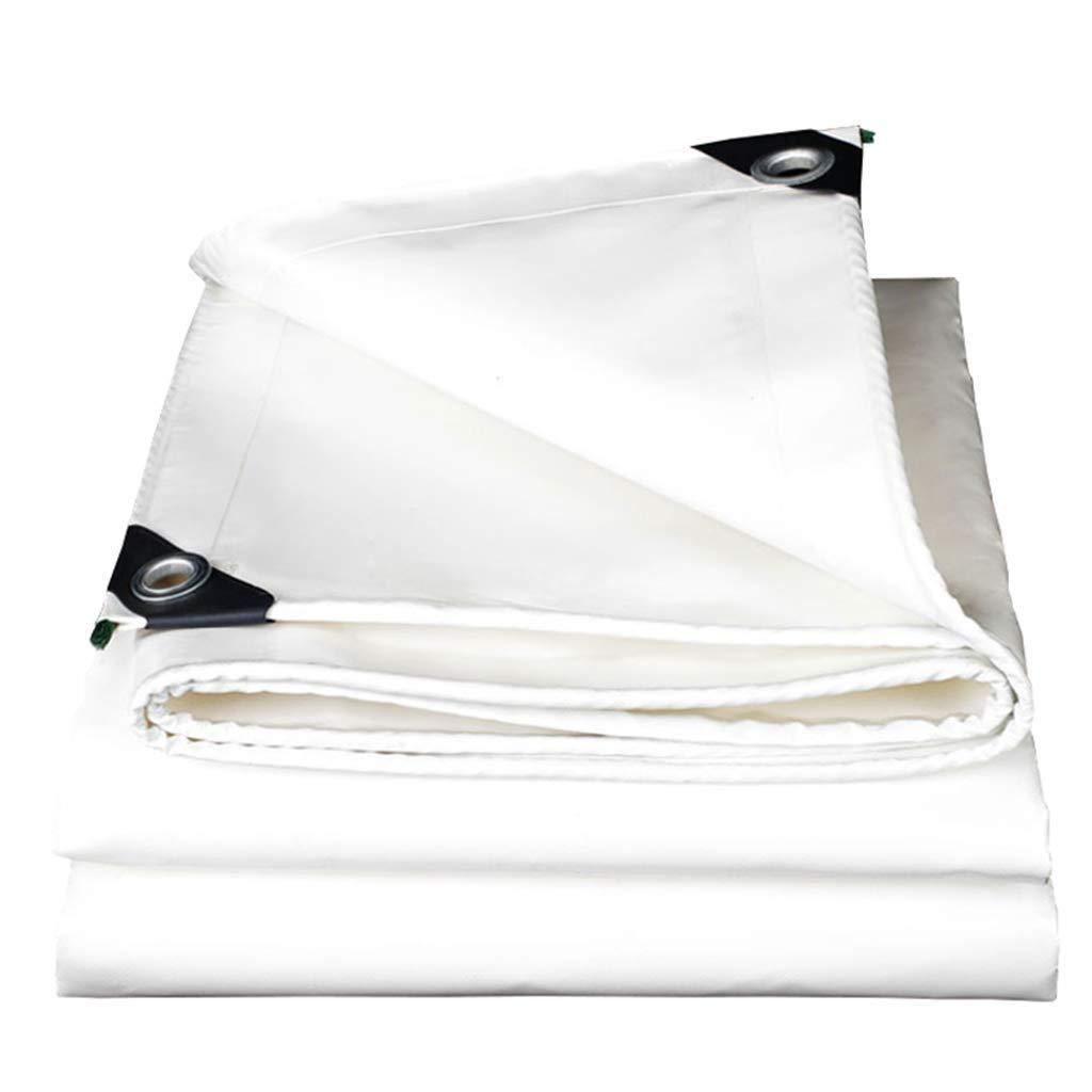 防水シート頑丈な防水グランドシートカバー、耐紫外線、グロメット付き防湿、厚さ0.45 mm、白 FENGMIMG (色 : 白, サイズ さいず : 5*5M) 5*5M 白 B07QWZBQFN