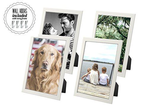 IKEA Picture Frame Photo Collage, Large White Frames For Family Portraits, Wall or Desk, FRAMES INCLUDE WALL HOOKS (Family Portrait Set - Large) for $<!--$31.87-->