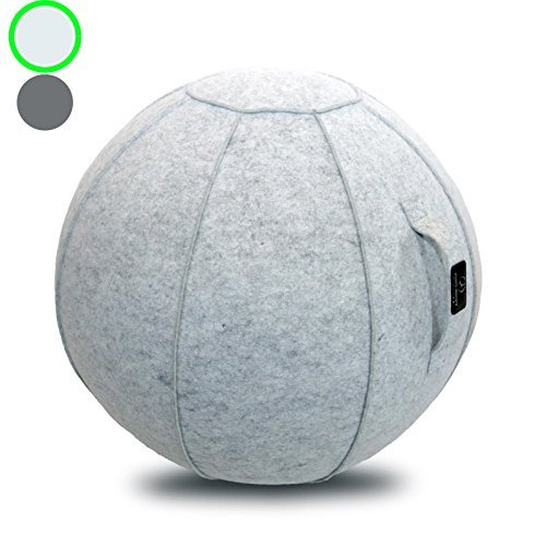 Sitting Ball Chair with Handle for Home, Office, Pilates, Yoga,...
