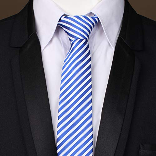 Navy amp; 1 Classic Tie Silk Handmade Necktie Men Selection 100 Cufflinks Blue Giftbox LanSilk Classic Hanky Set Tie Silk Set Handkerchief Cufflink Tie Stripe White Slim 4p07qwHxf