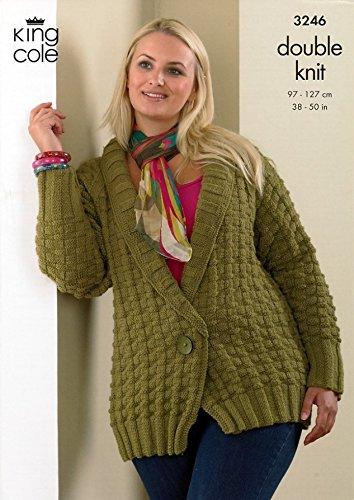 King Cole Plus Size Cardigan Jacket Merino Dk Knitting Pattern