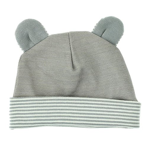 Baby Hat with Radiation Shielding Fabric Available in Two Styles: Rabbit or Mouse, Mouse - Grey, 0 - 6 - Stores Bh Clothing