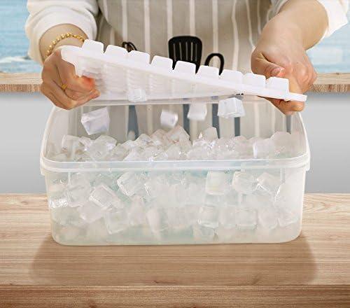 CoCocina Nevera Caja de hielo comercial, pequeña rejilla de hielo ...