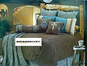Amazon.com: Western Bedding Turquoise and Beige Mosaic 4