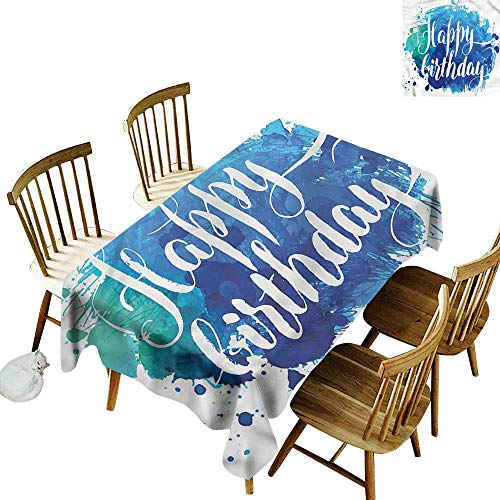 Sillgt Waterproof Table Cover Birthday Artsy Greeting Message It's Good to be Home Gorgeous High End Quality 54