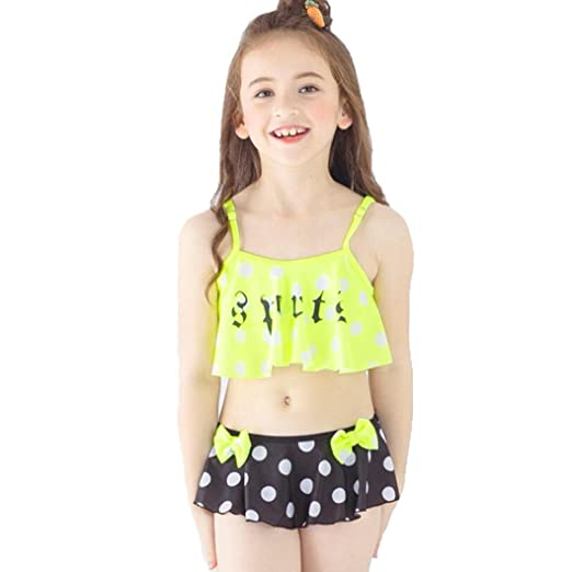 11aefcd815 Amazon.com  Moonker Hot Sale Kids Swimwear! Toddler Baby Girls Dot Swimsuit  Bathing Bikini Brief Set Outfits 2-6T  Clothing