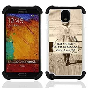 For Samsung Galaxy Note3 N9000 N9008V N9009 - little girl sepia mother love inspiring Dual Layer caso de Shell HUELGA Impacto pata de cabra con im????genes gr????ficas Steam - Funny Shop -