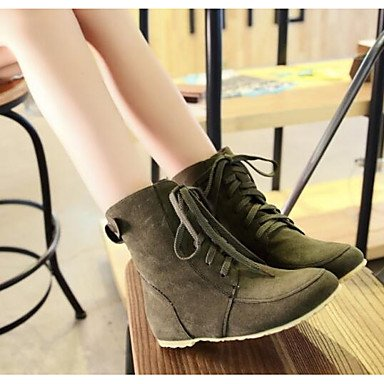 UK3 Boots Mid US5 5 Nubuck For Casual Black Calf Women'S Booties Shoes Boots Beige Green 5 Fashion Winter RTRY EU36 Fall Boots Boots Brown Leather CN35 Army Ankle q74xFB00w