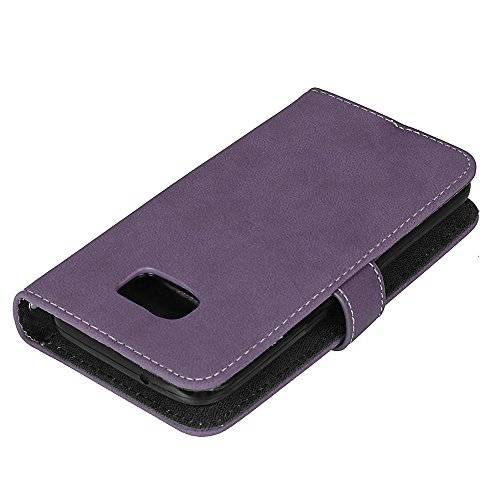Case S7 Magnetic Holder Wallet Galaxy Flip Card Leather PU Premium Case Slots Leather Design Stand and Cash Galaxy 9 Wallet with Flip Samsung BONROY® Retro Case S7 Phone Slot purple Co Card Book Fordable 0SYnqY