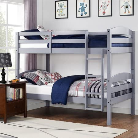 Better Homes and Gardens* Converts to 2 stand-alone Twin Over Twin Wood Bunk Bed Bed Only in Gray