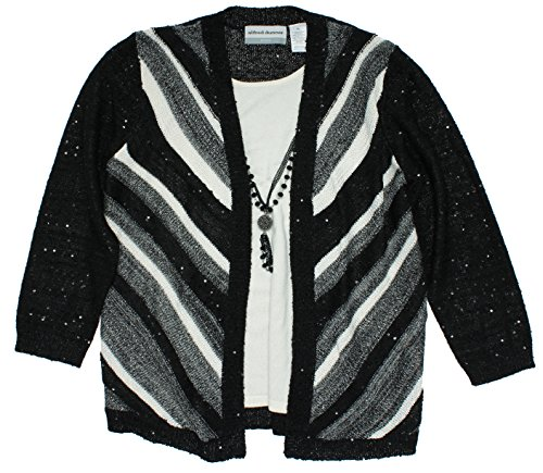 Alfred-Dunner-Oscar-Night-Chevron-Stripe-Two-for-One-Cardigan