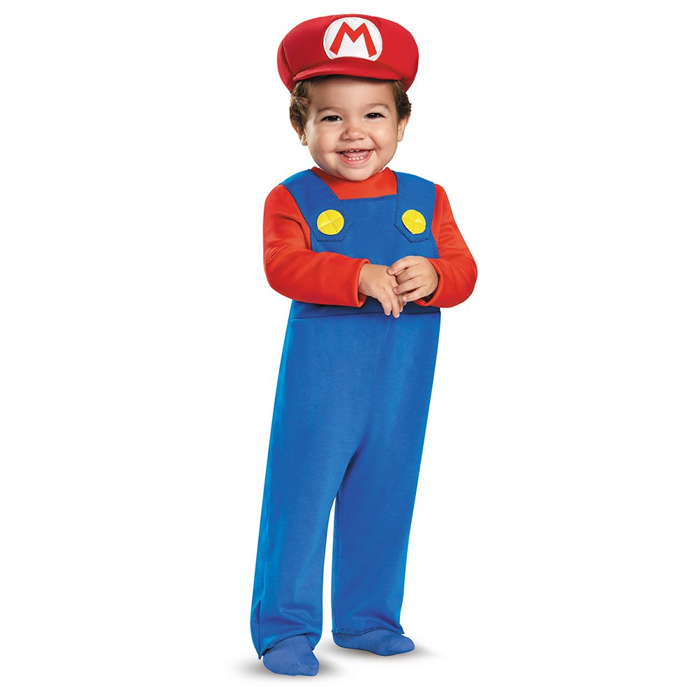 amazoncom disguise baby boys mario infant costume red 12 18 months clothing