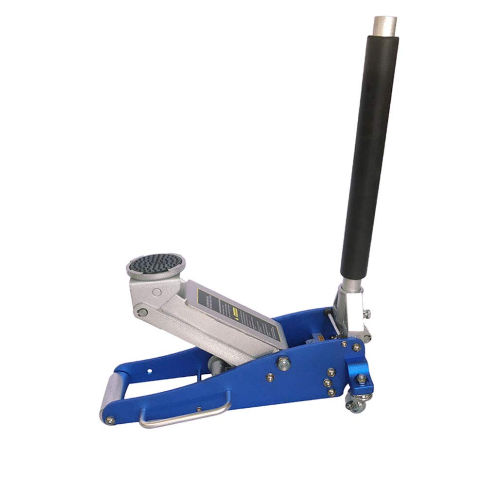 TRIL GEAR Automotive 1.5 Ton Heavy Duty Ultra Low Profile Aluminum Steel Floor Jack with Rapid Pump Quick Lift