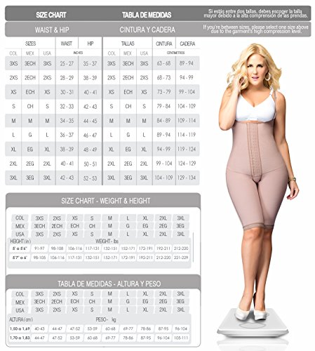 Amazon.com: DPrada 11052 Fajas Colombianas Post Operatorias Post Surgery Girdle Body Shaper: Clothing