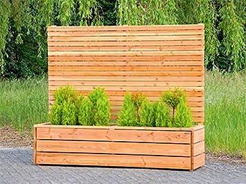 Binnen Markt Pflanzkasten Holz Lang L Mit Sichtschutz Natur Geolt