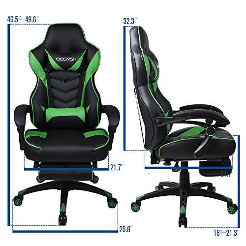 Video Gaming Chair Racing Office Reclining Pu Leather