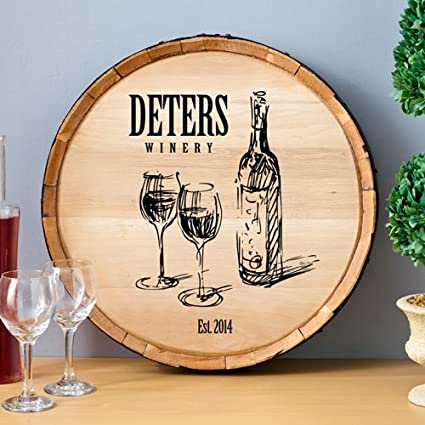 Personalized Wine Barrel Home Decor Sign (Family Winery)