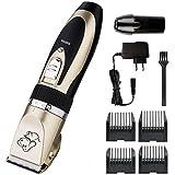 Cadrim Tierhaarschneider mit Keramik-Rasiererkopf für Hund / Katze,Wiederaufladbare Haarschneider Elektrischer Krallenschleifer, Sanfter Haustier Nagelschleifer Nageltrimmer (Tierhaarschneider)