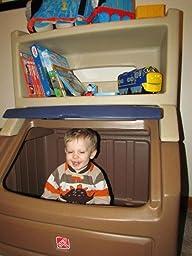 Amazon Com Step2 Lift Amp Hide Bookcase Storage Chest